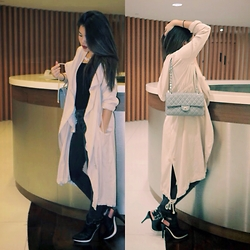 Wytane Au - Forever 21 Full Body Length Windbreaker, Forever 21 White Bottomed Cut Out Ankle Boots, Zara Washed Out Black Denim Jeans - Autumn Drapes