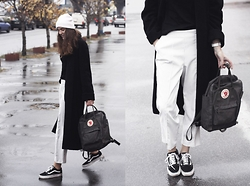 Anna Litichenko - Vans Sneakers, River Island Coat - The one with rainy streets