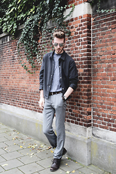 Martin Bonke - New #Ootd On Fckhim.Com!, H&M Olive Green Shirt, Topman Rollneck, H&M Grey Pants, Steve Madden Leather Boots - Greyish Dreams.