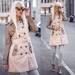 Oksana Orehhova - Zerouv Sunglasses - TRENCH COAT SEASON