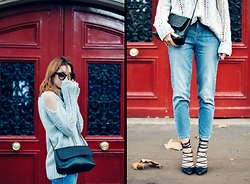 Laugh of Artist - River Island Pull, Zara Bag, River Island Jean, River Island Heels - Pull off shoulders