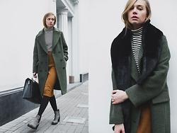 Dasha Shcerbakova - Jana Segetti Skirt, Jana Segetti Coat, Asos Bag, Vagabond Shoes, Jana Segetti Top - Colors of november