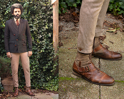 Dualleh Abdulrahman - Harris Tweed Diy Pants, G Star Diy Boots - Autumn diy