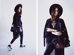 Sofia Reis - Missguided Jacket, Choies Kimono, Vans Sneakers - Off the wall