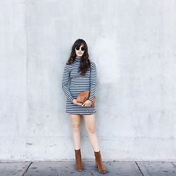 Tonya S. - Urban Outfitters Kaylyn Dress, Free People Cecile Boot - 90s Kid