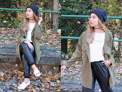 Claudia Villanueva - H&M Beanie, Wholesalebuying Shirt, Zara T Shirt, Forever 21 Joggers, Stradivarius Shoes - Across the Railway