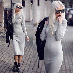 Oksana Orehhova - Sheinside Dress - STAND OUT IN GREY