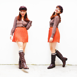 Sybille Green - Cndirect Skirt, Zara Boots, Mango Shirt, Forever 21 Hat - Profite