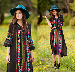 Viktoriya Sener - Zaful Dress, Catarzi Hat, Asos Booties - VYSHYVANKA