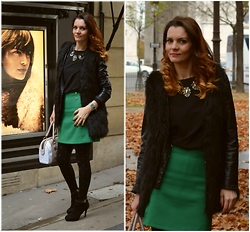 Butterfly Petty - Lookbook Store Jacket, Zara Skirt, Guess Bag, Style Moi Jacket - From Paris with Love