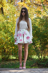 Tamy's Fashion World - H&M Shirt, Skirt, Zara Shoes - Flowers