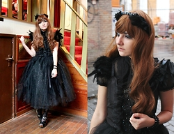 Candy Hashi - Handmade Dress - Black Swan