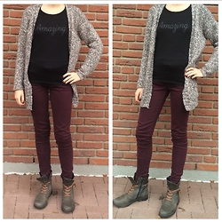 The Deep Style -  - Wine red pants