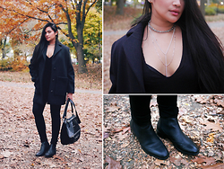 Raleene Cabrera - Balenciaga Wool Blend Coat, Hrh Collection Layered Accessories, Balenciaga Chelsea Brogues, Givenchy Croc Stamped Bag, Zara Pants - 111815