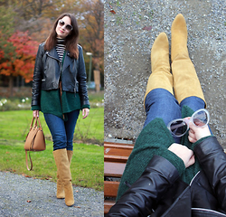 Albina Van den Berg @albinaberg - Michael Kors Leather Bag, Chanel Sunnies, Zara Suede Boots - Fall colours