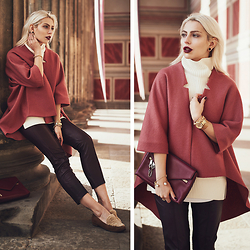 Masha Sedgwick - Chloe Bag, Vince Jumper, Vince Trousers, Cos Jacket - 50 Shades of Red