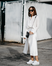 Diana Z Wang - Uniqlo Linen Shirt, C/Meo Collective Wrap Skirt, H&M Sneakers, Coach Bag, Celine Sunnies - Silk n Linen