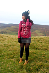 Lauren Evans - H&M Hat, Primark Sweatshirt, Mango Skirt, Primark Shoes, Brick Lane Gloves - Peak District.