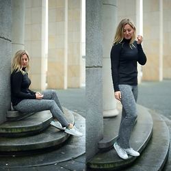 Yasmin Ooteman - H&M Top, Adidas Shoes, H&M Trouser - Shot in Rotterdam