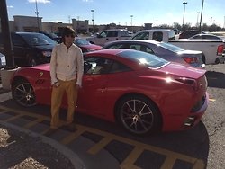Anatoli Katsavriov -  - Met a nice guy with his ferrari, he gave me a ride in it :)