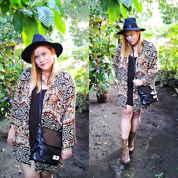 BeLL LurzZzzz - Cndirect Fedora Hat, Dealsale Black Sling Bag, Aldo Brown Boots - Inspired by Fall