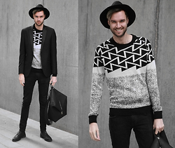 Geraint Donovan-Bowen - Topman Fedora, Antony Morato Blazer, Antony Morato Jumper, Nudie Jeans, Antony Morato Backpack, River Island Shoes - His Name Is Geo