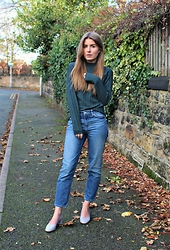 Angharad Jones - Y.A.S Jumper, Weekday Jeans, Topshop Shoes - Emerald