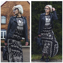 Wiktoria Celmer - Adidas Paisley Print Skirt By Originals, Adidas Paisley Print Jumper By Originals, Karl Lagerfeld Quilted Bag - Paisley Print
