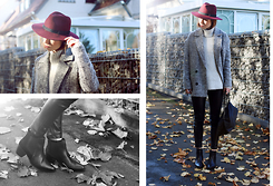 Patty . - Asos Hat, New Look Sweater, H&M Pants - BLACK PANTS