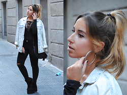 Claudia Villanueva - Zara Jacket, Fashion Pills Bodysuit, Mango Bag, Stradivarius Jeans, Asos Boots - In Trend: Lace up Body