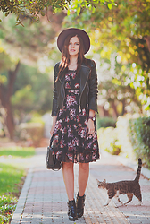 Viktoriya Sener - Adamo Leather Jacket, Tomtop Dress, Toga Pulla Booties - SUNSHINE