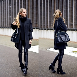 Anna R - Strenesse Coat - All Black For Black Friday