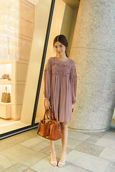 Tricia Gosingtian - Mango Dress, Coach Bag - 111315