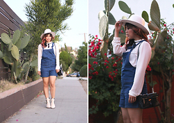 Yuka I. - Brixton Hat, Forever 21 Blouse, Asos Overall - California dreaming