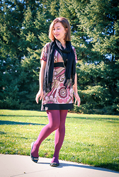 Lindsey Puls - Charlotte Russe Dress, Express Scarf, Modcloth Tights - Big Changes
