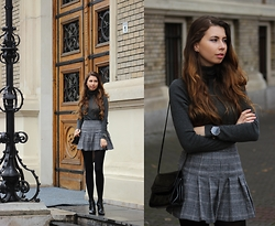 Ramona Crisstea - Zara Skirt, Balber Watch, Zara Boots - University Look