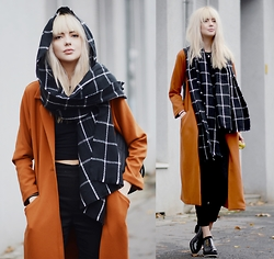 Ebba Zingmark - Monki Coat, Borrowed Scarf, Reval Denim Guild Pants, Shellys London Shoes - HIT AND RUN