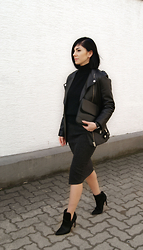 Kat I. - H&M Trend Jacket, Octobre Bag, Urban Watches Watch, Zara Shoes, Littionary Earrings, Oasap Skirt & Sweater - Mf/120415