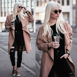 Oksana Orehhova - Dealsale Shoes, Sheinside Coat - CASUAL COFFEE
