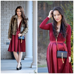 Kimberly Kong - Charlotte Russe Top, Charlotte Russe Skirt, Ysl Bag - The Plunging V-neck Bodysuit