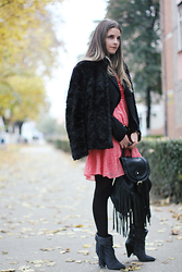 Madalina Gugila - H&M Faux Fur Jacket, H&M Dress, Isabel Marant Pour H&M Boots - I put a spell on you