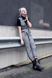 Sotzie Q - Wholesale7 Gray Overall Pants - New theories