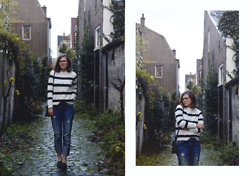 Piia Õ. - Pimkie Embellished Striped Jumper, Zara Oversized Jeans - Stripes And Dutch Weather