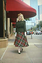 Erin Smith - Original Design Vintage Inspired Hat, Mr. Fine Vintage Skirt - Afternoon at Neiman's