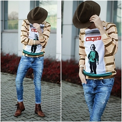 Adrian Kamiński - Second Hand Hat, Blouse, Cropp Pants, Stylepit Shoes, Jacket - 0 like
