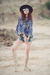 Dewi Purnama - Anakara Batik Bells Top, Zalora Gladiator Sandals - Believe in Pattern!