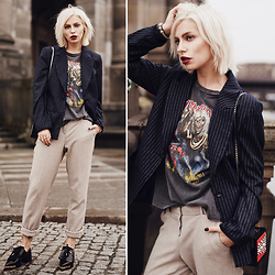 Masha Sedgwick - Baum & Pferdgarten Blazer, Les Petits Joueurs Bag, Uterqüe Shoes, Vintage Shirt - The Old Shirt
