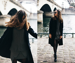 Bea G - Coat, Sweater, Shoes - When in Paris