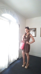 Sheri - Kate Spade Purse, Christian Louboutin Pumps, Zara Tweed Dress, Kate Spade Necklace - Ootd