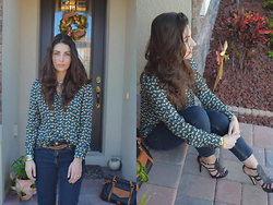 Katerina Maurtua - Zara Blouse Bohi, Mango Jeans, Dooney And Bourke Tote - Pattern for Days